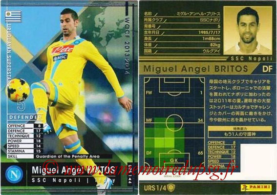 2013-14 - WCCF - N° URS1 - Miguel Angel BRITOS (SSC Napoli) (Uruguyan Superstars)