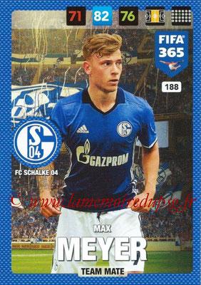 2016-17 - Panini Adrenalyn XL FIFA 365 - N° 188 - Max MEYER (FC Schalke 04)