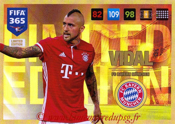 2016-17 - Panini Adrenalyn XL FIFA 365 - N° LE23 - Arturo VIDAL (FC Bayern Munich) (Limited Edition)