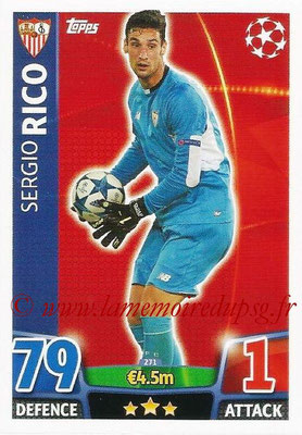 2015-16 - Topps UEFA Champions League Match Attax - N° 271 - Sergio RICO (FC Seville)