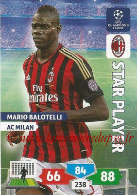 2013-14 - Adrenalyn XL champions League N° 188 - Mario BALOTELLI (AC Milan) (Star Player)