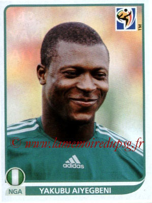 v2010 - Panini FIFA World Cup South Africa Stickers - N° 143 - Yakubu AIYEGBENI (Nigeria)