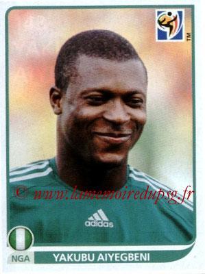 v2010 - Panini FIFA World Cup South Africa Stickers - N° 143 - Yakubu AIYEGBENI (Nigeria)