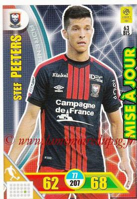 2017-18 - Panini Adrenalyn XL Ligue 1 - N° 063bis - Stef PEETERS (Caen) (Mise à jour)