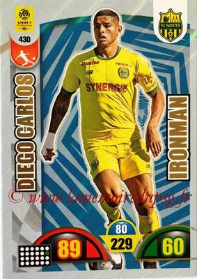 2018-19 - Panini Adrenalyn XL Ligue 1 - N° 430 - Diego CARLOS (Nantes) (Ironman)