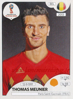 2018 - Panini FIFA World Cup Russia Stickers - N° 519 - Thomas MEUNIER (Belgique)