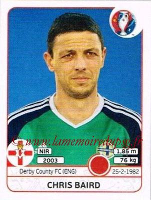 Panini Euro 2016 Stickers - N° 328 - Chris BAIRD (Irlande du Nord)