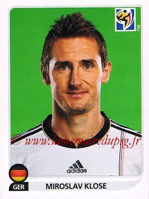 2010 - Panini FIFA World Cup South Africa Stickers - N° 275 - Miroslav KLOSE (Allemagne)