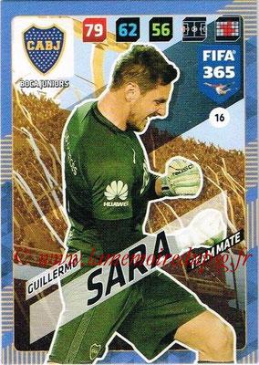 2017-18 - Panini FIFA 365 Cards - N° 016 - Guillermo SARA (Boca Juniors)