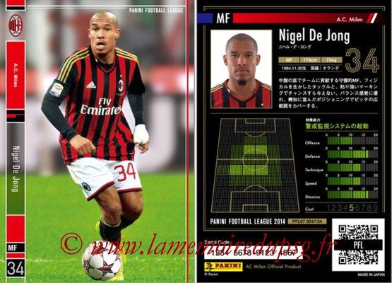 Panini Football League 2014 - PFL07 - N° 004 - Nigel DE JONG (Milan AC)