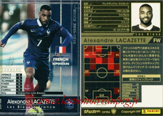 2015-16 - Panini WCCF - N° FRS-EXT1 - Alexandre LACAZETTE (France) (French Superstars) (Extra)