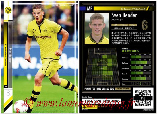 Panini Football League 2013 - PFL02 - N° 101 - Sven Bender ( BV Borussia 09 Dortmund )