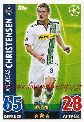 2015-16 - Topps UEFA Champions League Match Attax - N° 219 - Andreas CHRISTENSEN (VfL Borussia Mönchengladbach)