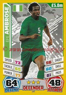 Topps Match Attax England 2014 - N° 183 - Efe AMBROSE (Nigéria)