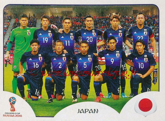 2018 - Panini FIFA World Cup Russia Stickers - N° 653 - Equipe Japon