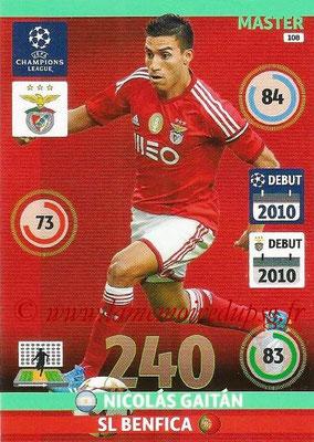 2014-15 - Adrenalyn XL champions League N° 108 - Nicolas GAITAN (SL Benfica) (Master)