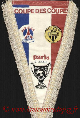 Grands Fanions  PSG-Waterschei  1982-83