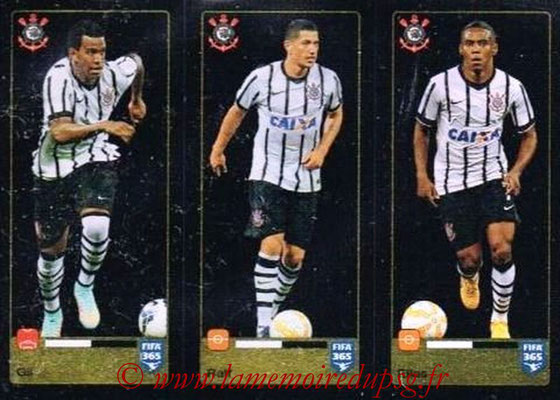 2015-16 - Panini FIFA 365 Stickers - N° 173-174-175 - GIL + RALF + ELIAS (SC Corinthians)