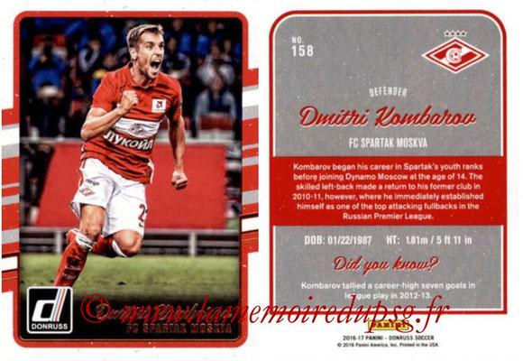 2016 - Panini Donruss Cards - N° 158 - Dmitri KOMBAROV (Spartak Moscou)