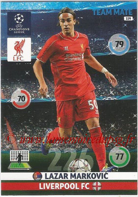 2014-15 - Adrenalyn XL champions League N° 159 - Lazar MARKOVIC (Liverpool FC)