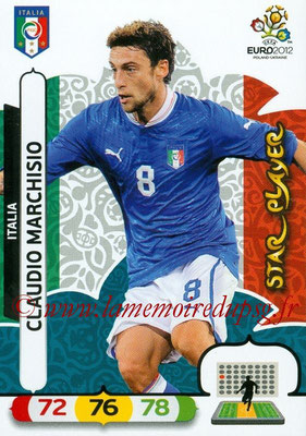 Panini Euro 2012 Cards Adrenalyn XL - N° 127 - Claudio MARCHISIO (Italie) (Star Player)