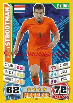 Topps Match Attax England 2014 - N° 177 - Kevin STROOTMAN (Pays-Bas)