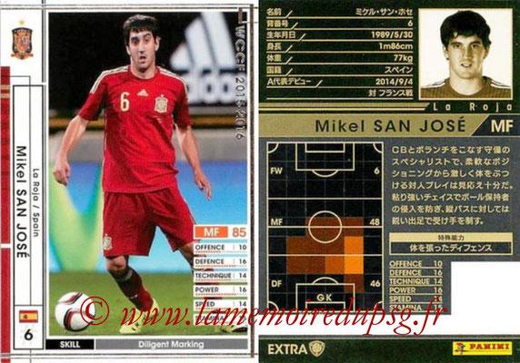 2015-16 - Panini WCCF - N° EXTRA15e - Mikel SAN JOSE (Espagne) (Extra)