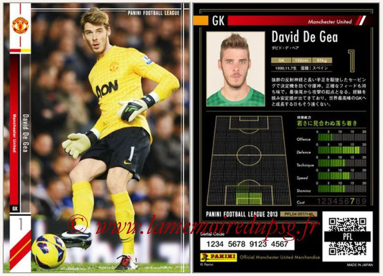 Panini Football League 2013 - PFL04 - N° 057 - David DE GEA (Manchester United)