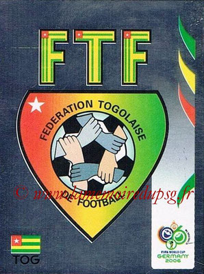 2006 - Panini FIFA World Cup Germany Stickers - N° 512 - Logo Togo