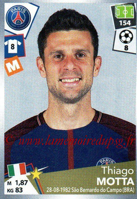 2017-18 - Panini Ligue 1 Stickers - N° 377 - Thiago MOTTA (Paris Saint-Germain)