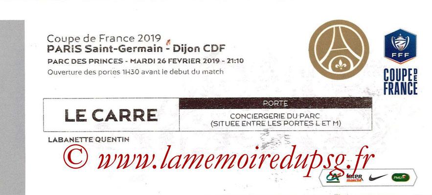 Tickets  PSG-Dijon  2018-19