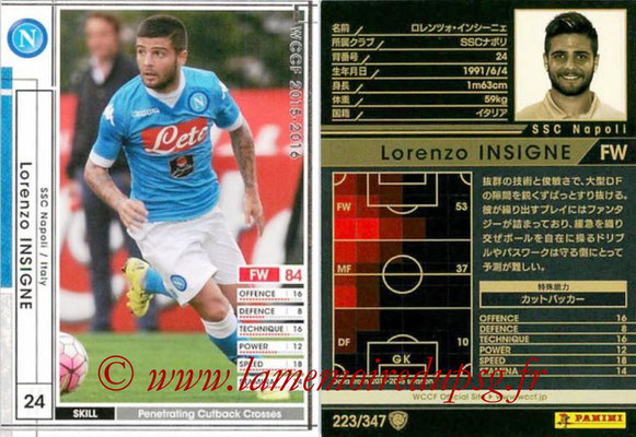 2015-16 - Panini WCCF - N° 223 - Lorenzo INSIGNE (SSC Napoli)
