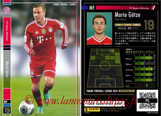 Panini Football League 2014 - PFL08 - N° 086 - Mario GÖTZE (Bayern Munich)