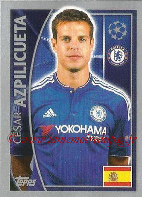 2015-16 - Topps UEFA Champions League Stickers - N° 454 - César AZPILICUETA (Chelsea FC)