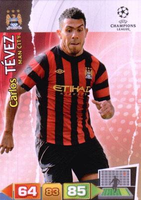 2011-12 - Panini Champions League Cards - N° 139 - Carlos TEVEZ (Manchester City FC)