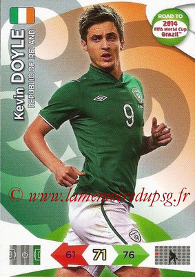 2014 - Panini Road to FIFA World Cup Brazil Adrenalyn XL - N° 117 - Kevin DOYLE (République d'Irlande)