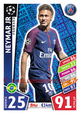 2017-18 - Topps UEFA Champions League Match Attax - N° SS15 - NEYMAR Jr (Paris Saint-Germain) (Super Strikers)