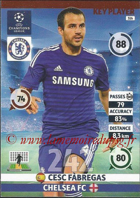 2014-15 - Adrenalyn XL champions League N° 316 - Cesc FABREGAS (Chelsea FC) (Key Player)