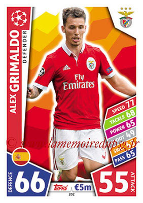 2017-18 - Topps UEFA Champions League Match Attax - N° 202 - Alex GRIMALDO (SL Benfica)