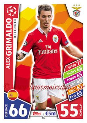 2017-18 - Topps UEFA Champions League Match Attax - N° 202 - Alex GRIMALDO (SL Benfica)