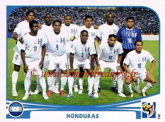 2010 - Panini FIFA World Cup South Africa Stickers - N° 600 - Équipe Honduras