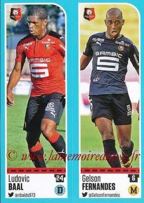 2016-17 - Panini Ligue 1 Stickers - N° 728 + 729 - Ludovic BAAL + Gelson FERNANDES (Rennes)