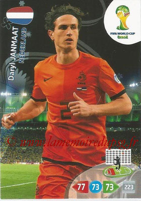 2014 - Panini FIFA World Cup Brazil Adrenalyn XL - N° 252 - Daryl JANMAAT (Pays-Bas)