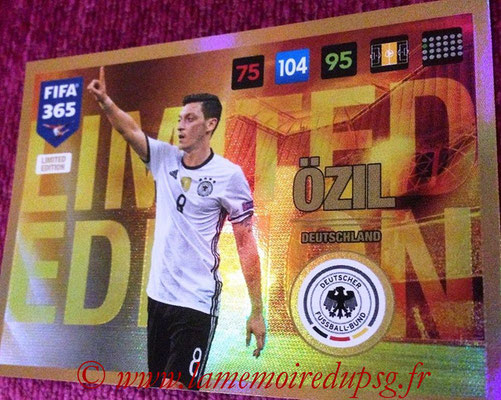 2016-17 - Panini Adrenalyn XL FIFA 365 - N° LE55 - Mesut ÖZIL (Allemagne) (Limited Edition)