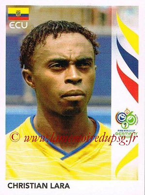 2006 - Panini FIFA World Cup Germany Stickers - N° 083 - Christian LARA (Equateur)