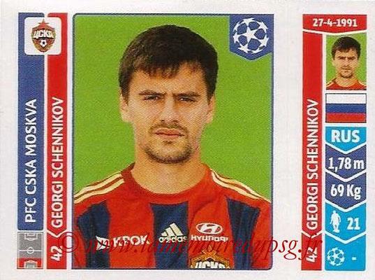 2014-15 - Panini Champions League N° 385 - Georgi SCHENNIKOV (PFC CSKA Moscou)