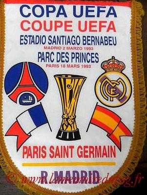 Fanions  PSG-Real Madrid  1993-94  (que je n'ai pas)