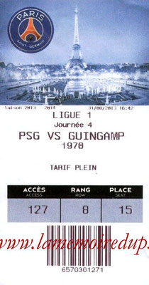Tickets  PSG-Guingamp  2013-14