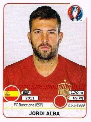 Panini Euro 2016 Stickers - N° 358 - Jordi ALBA (Espagne)