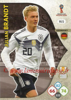 2018 - Panini FIFA World Cup Russia Adrenalyn XL - N° 165 - Julian BRANDT (Allemagne)
